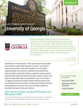 Customer Spotlight - University of Georgia