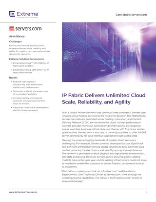 IP Fabric Delivers Unlimited Cloud Scale, Reliability, and Agility