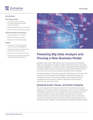 Powering Big Data Analysis and Proving a New Business Model