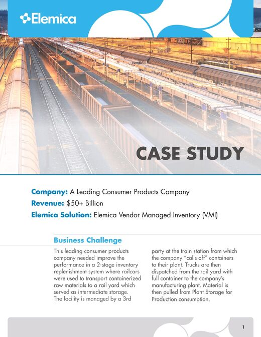 Elemica Case Study: A Leading Consumer Products Company