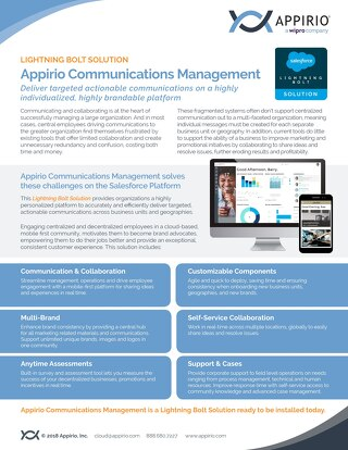 Appirio Communications Management - Lightning Bolt Solution