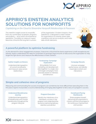 Appirio's Einstein Analytics Solutions for Nonprofits
