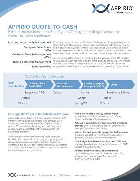 Quote To Cash Unique Appirio Quotetocash