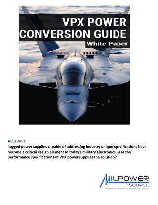 VPX Power Conversion Guide