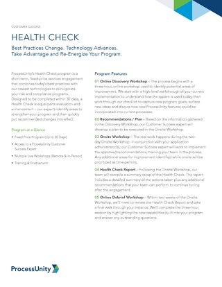 ProcessUnity Health Check