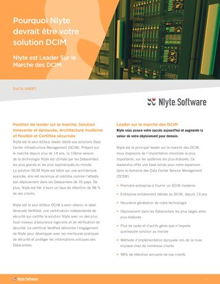FRENCH Nlyte why we should be your DCIM Vendor