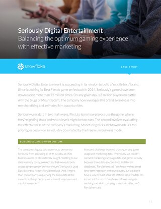 Seriously Digital Entertainment: Balancing the optimum gaming experience with effective marketing