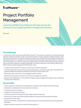 Alfabet for Project Portfolio Management