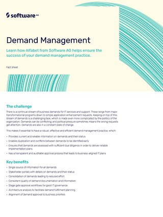 Alfabet for Demand Management