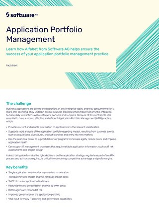 Alfabet for Application Portfolio Management
