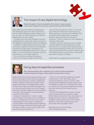 Claranet | The impact of new digital technology