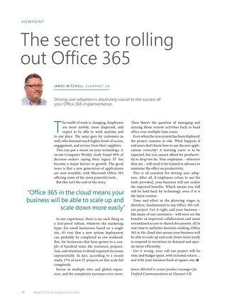 Claranet | The secret to rolling out Office 365