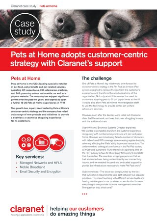 Pets at Home adopts customer-centric strategy with Claranet's support
