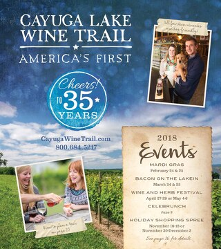 2018 Cayuga Lake Wine Trail brochure