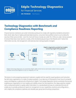 Edgile Technology Diagnostics for Financial Services
