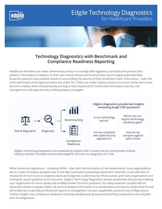 Edgile Technology Diagnostics for Healthcare Providers