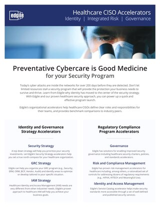 Healthcare CISO 2018 Accelerators