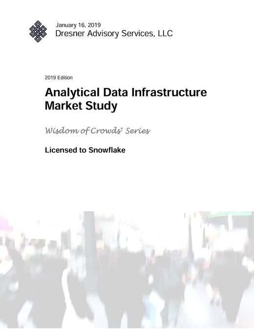Dresner Advisory Services: Analytical Data Infrastructure Market Study (Excerpt)