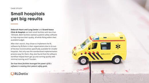 Small Hospitals Get Big Results