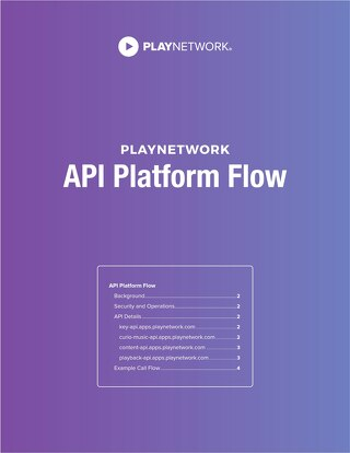 PlayNetwork CURIO API Platform Flow