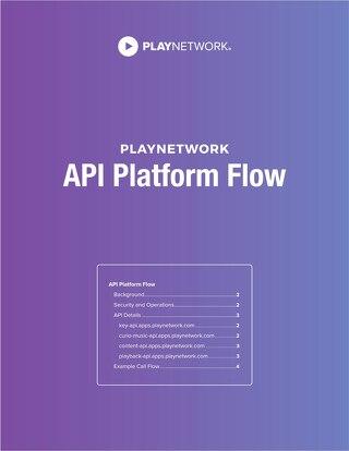 PlayNetwork CURIO API Platform Flow