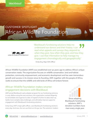 African Wildlife Foundation Gets Smarter with Engagement