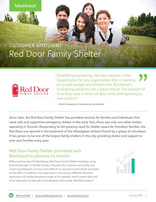 Red Door Family Shelter Advances Their Mission