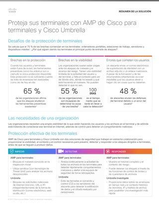 Proteja sus terminales con AMP de Cisco para terminales y Cisco Umbrella
