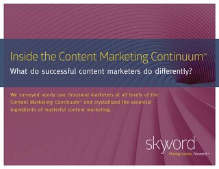 Inside the Content Marketing Continuum Research Report