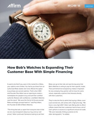 Bob's Watches Case Study