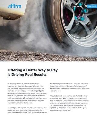 Vivid Racing Case Study