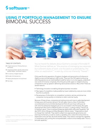 Bimodal Success via IT Portfolio Management