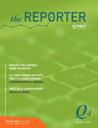 The Reporter Quarter 4 2016