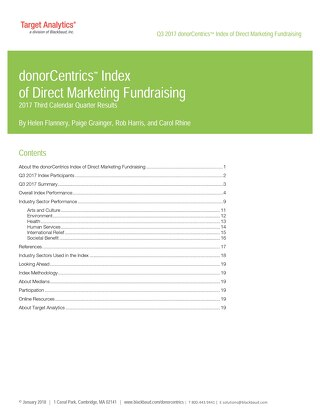 donorCentrics Direct Marketing Index Q3 2017