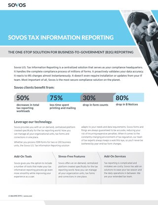 The Sovos Tax Information Reporting Solution