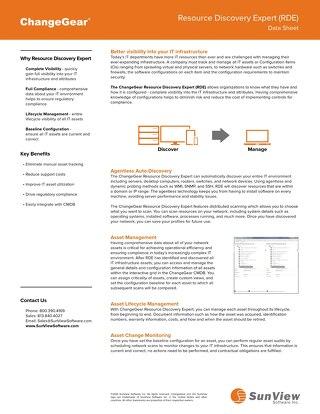ChangeGear Resource Discovery Expert