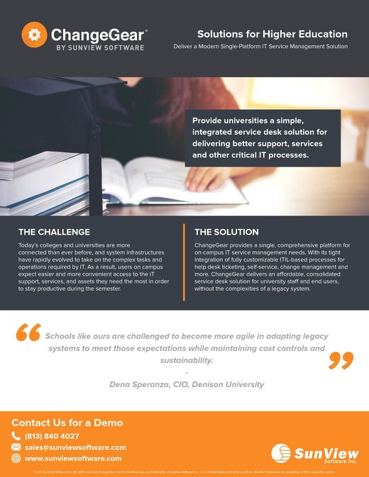 ChangeGear: Solutions for Higher Education