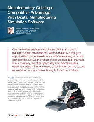 Manufacturing: Gaining a Competitive Advantage Through Cost Management Software