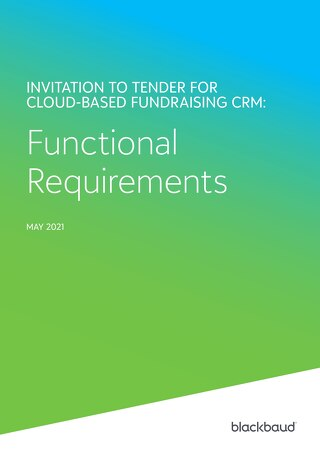 CRM Requirements Checklist for Non-Profits