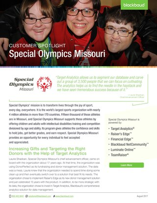 Special Olympics Missouri's Success Story