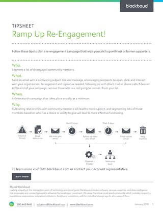 Tipsheet: Ramp up re-engagement with lost supporters