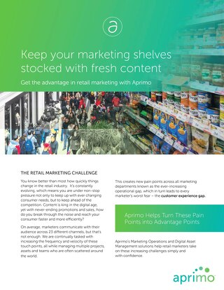 Get the Advantage in Retail Marketing with Aprimo