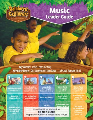 Music Leader Guide Sample | Splash Canyon VBS 2018