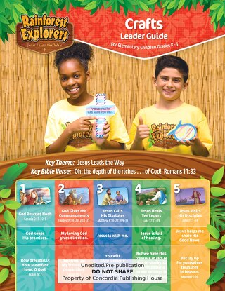 Crafts Leader Guide Sample | Splash Canyon VBS 2018