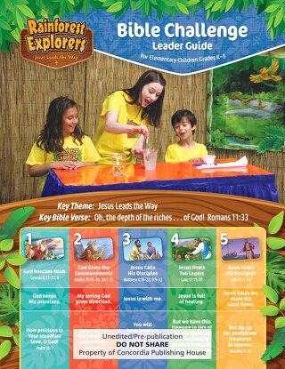 Bible Challenge Leader Guide Sample | Splash Canyon VBS 2018