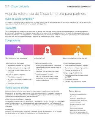 Hoja de referencia de Cisco Umbrella para partners
