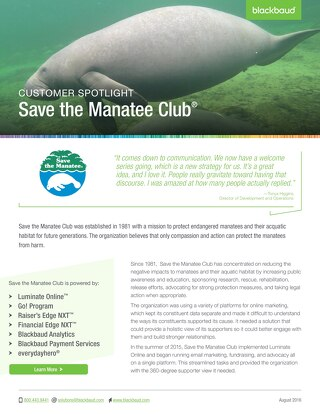 Save the Manatee Club Spotlight