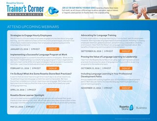 Trainer's Corner for Business Webinar Series