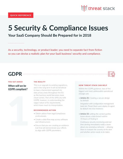 5 Security and Compliance Issues Your SaaS Should be prepared for in 2018