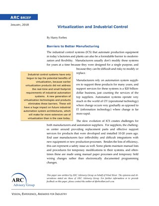 ARC Brief: Virtualization and Industrial Control